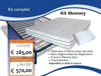 Kit In Memory Foam Con Materasso 22 Cm Rete Cuscini Coprimaterasso Disponibile In Tutte Le Misure Entra Per La Scelta Kit Memory Foam Kit Materasso