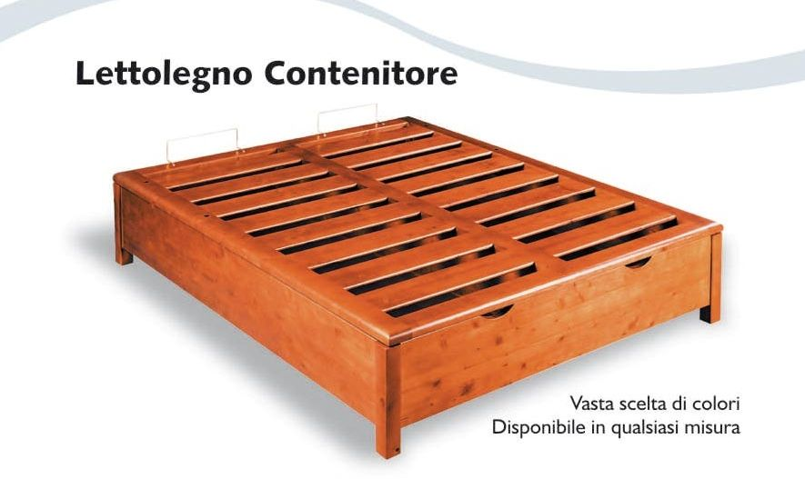 Letto legno contenitore entra per le misure ed i colori disponibili letti in legno letti - Letto sommier 140x200 ...