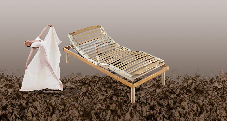 Rete in legno motorizzata alzata testa piedi con - Piedi letto ikea ...