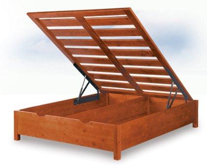 Letto contenitore legno massello letti contenitore - Letto contenitore in legno ...
