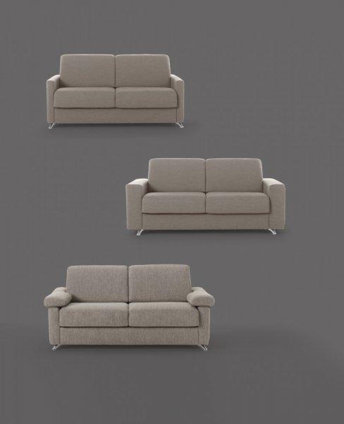 Divano letto modello ambrogio meccanismo con materasso alto 18 cm divani letto vendita - Divano letto con materasso alto ...