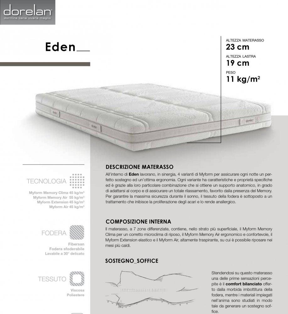 Materassi Per Dormire Memory.Materasso Dorelan Eden Memory Foam Nuova Gamma 2018 Memory Foam